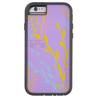 Floral Awareness Ribbons on Lilac Purple Tough Xtreme iPhone 6 Case