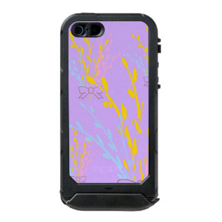 Floral Awareness Ribbons on Lilac Purple Waterproof iPhone SE/5/5s Case
