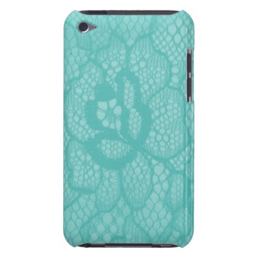 Floral azul bonito de iPod Barely There del cordón Barely There iPod Cárcasa