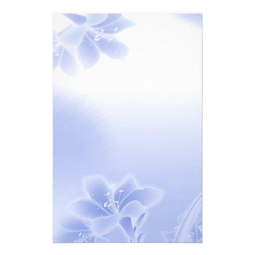 Floral azul brumoso papeleria de diseño