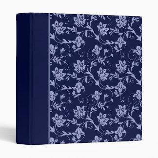 """Floral azul carpeta 1"""""""