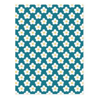 Floral azul del trullo postales