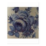 Floral azul postal