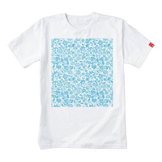 Floral azul reluciente