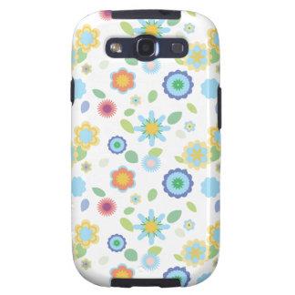Floral-azul simple galaxy s3 protector