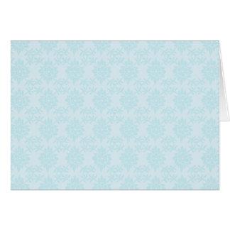 Floral azul tarjeta pequeña