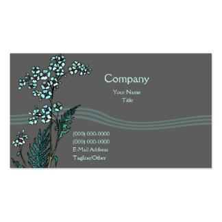 Floral azul tarjetas de visita