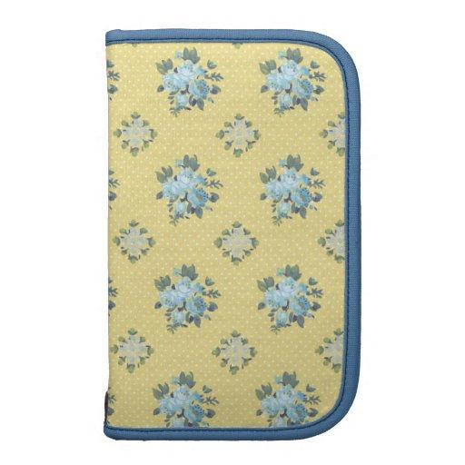 Floral azul y amarillo femenino planificadores