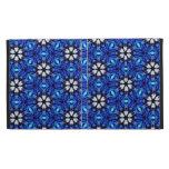 Floral azul y blanco