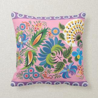 Floral azul y púrpura cojines