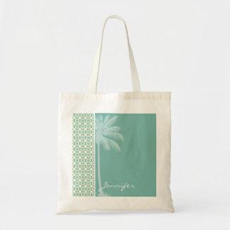 Floral azulverde y poner crema bolsas de mano