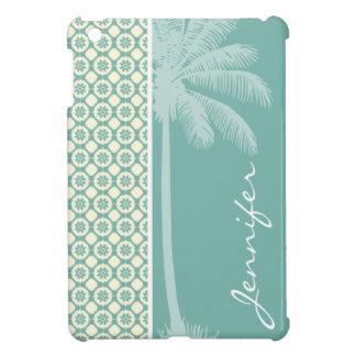 Floral azulverde y poner crema iPad mini cobertura