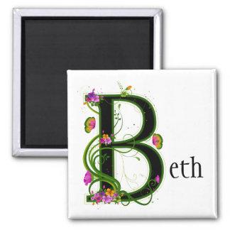 Floral B Magnet