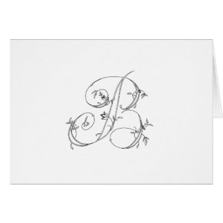 Floral B Notecard Stationery Note Card