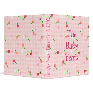 Floral Baby Book Binder