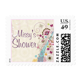Floral Baby/Bridal Shower Stamp (Small)