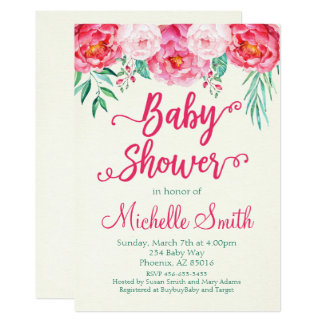 Floral Baby Shower Invitation, Baby Shower Invite