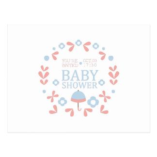 Floral Baby Shower Invitation Design Template Postcard