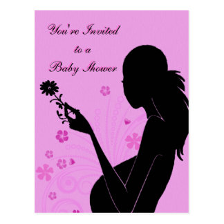 Floral Baby Shower Invitation Post Cards