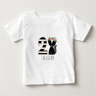 Floral Baby Skunk Stripes Second Birthday Shirt