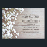 """Floral- Baby&#39;s Breath Rustic Summer Simple Wedding Card<br><div class=""""desc"""">The baby&#39;s breath flowers wedding invitation with the rustic barn wood background texture. Elegant,  rustic and vintage - this is the perfect invitation for your lovely wedding. -- All design elements created by Jinaiji.</div>"""