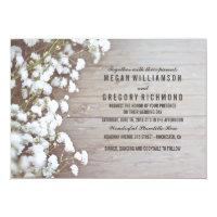 Floral- Baby's Breath Rustic Summer Simple Wedding Card