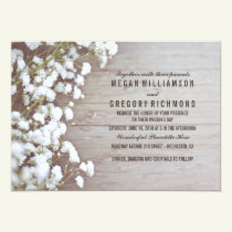 Floral- Baby's Breath Rustic Summer Simple Wedding Invitation