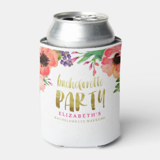 FLORAL BACHELORETTE PARTY Can Cooler