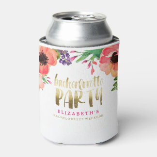 FLORAL BACHERLOTTE PARTY CAN COOLER