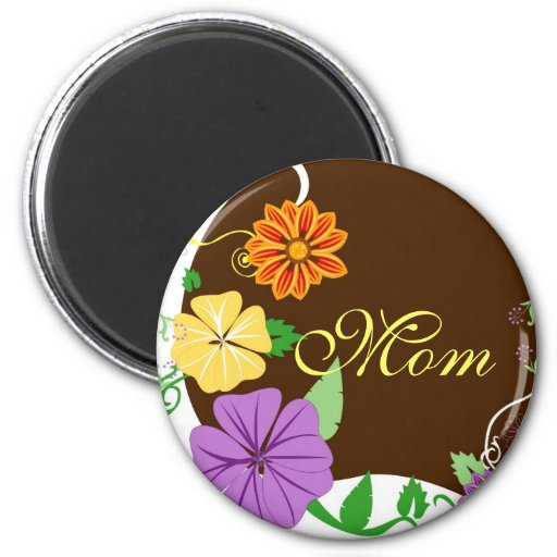 Floral Background1 2 Inch Round Magnet