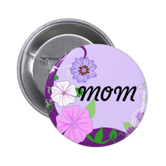 Floral Background3 Pinback Button