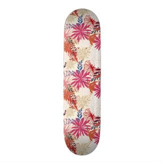 Floral background 3 skateboard deck