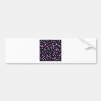Floral background bumper sticker