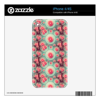 Floral background decals for iPhone 4