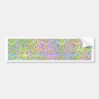 Floral Background from The Fairy Nekos of Spring D Bumper Stickers