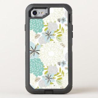 Floral background OtterBox defender iPhone 8/7 case