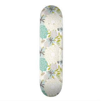 Floral background skateboard