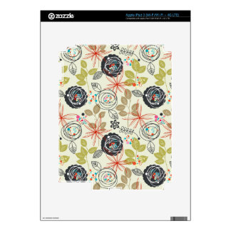 Floral background skins for iPad 3