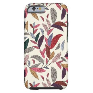 Floral background tough iPhone 6 case
