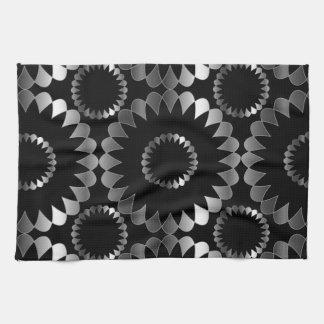 Floral background towel