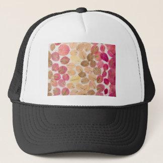 floral background trucker hat