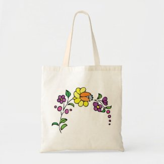 Floral bag yellow flower tote