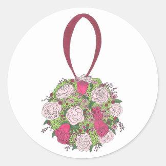 Floral Ball Bouquet Rose Flower Wedding Stickers