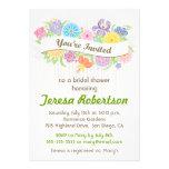 Floral Banner Bridal Shower Invitation