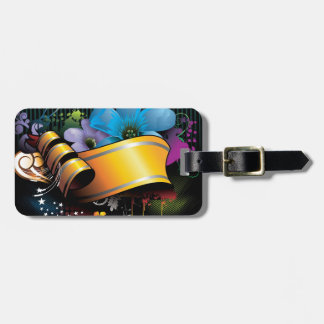 Floral Banner Luggage Tag