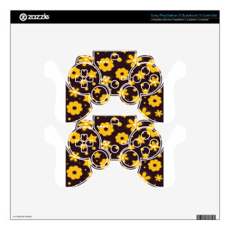 Floral banner main design skins for PS3 controllers
