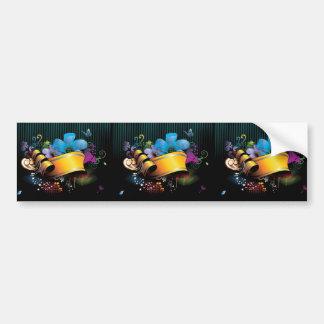 Floral_Banner_main FLORAL FANTASY BANNER BACKGROUN Bumper Sticker