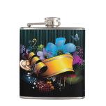 Floral_Banner_main FLORAL FANTASY BANNER BACKGROUN Hip Flask