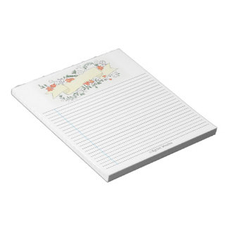 Floral Banner Note Pad - Pale Yellow