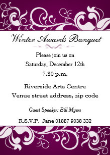Banquet invitations announcements zazzle floral banquet invitation stopboris Choice Image